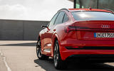 Audi E-tron Sportback 2020 road test review - rear lights