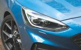 Ford Focus ST 2019 road test - headlights