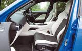 Jaguar F-Pace SVR 2019 road test review - front seats