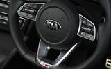 Kia Optima Sportswagon 2018 review - steering wheel