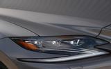 Lexus LS500h 2018 road test review headlights