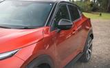 Nissan Juke 2020 road test review - wing mirror