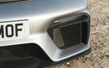 Porsche 718 Spyder 2020 road test review - front splitter
