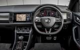 Skoda Kodiaq vRS 2019 road test review - steering wheel