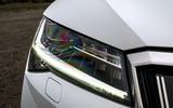 Skoda Superb iV 2020 road test review - headlights