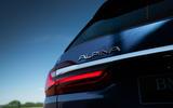 Alpina XB7 2020 road test review - rear lights