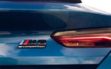 BMW M8 Competition coupe 2020 road test review - rear badge