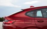 BMW X4 2018 road test review rear quarter panel