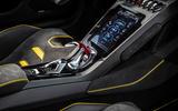 Lamborghini Huracan EVO RWD 2020 road test review - centre console