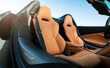 McLaren 720S Spider 2019 road test review - seats