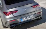 Mercedes-AMG CLA 45 S 2019 road test review - rear end