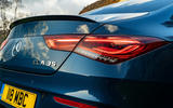 Mercedes-AMG CLA35 2020 road test review - rear lights