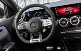 Mercedes-AMG GLA 45 S Plus 2020 road test review - steering wheel
