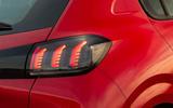 Peugeot 208 2020 road test review - rear lights