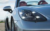 Porsche 718 Spyder 2020 road test review - headlights