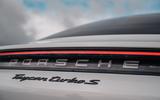 Porsche Taycan 2020 road test review - rear badge