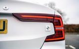 Volvo S60 Polestar Engineered 2020 road test review - rear lights