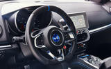 Alpine A110 2018 road test review steering wheel