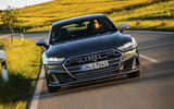 Audi S7 Sportback TDI 2020 road test review - on the road nose