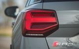 Audi SQ2 2019 road test review - rear lights