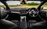BMW 3 Series 330e 2020 road test review - dashboard
