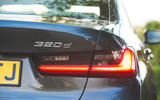 BMW 3 Series 320d 2019 Road Test review - rear lights