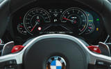 BMW M5 2018 review instrument cluster