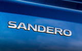 8 dacia sandero tce 90 2021 uk first drive review rear badge