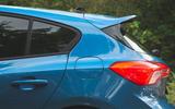 Ford Focus ST 2019 road test - rear three quarters