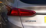 Hyundai Santa Fe 2019 road test review - rear lights