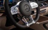 Mercedes-AMG GLS 63 2020 road test review - steering wheel