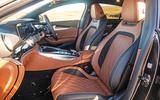 Mercedes-AMG GT four-door Coupé 2019 road test review - front seats
