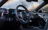 Mercedes-Benz A-Class saloon 2018 review - steering wheel