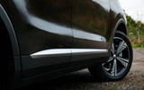 MG ZS EV 2019 road test review - side skirts