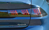 Peugeot 508 2018 road test review - rear lights