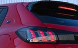 Peugeot e-208 2020 road test review - rear lights
