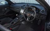 Porsche 718 Cayman GTS 2018 review dashboard
