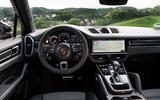 Porsche Cayenne Coupé 2019 review - steering wheel