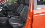 Vauxhall Corsa 2020 road test review - front seats