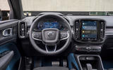 8 Volvo C40 Recharge 2021 first drive review dashboard