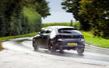 Mazda 3 Skyactiv-X 2019 road test review - on the road rear