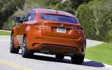 BMW X6 M rear cornering