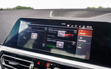 BMW 3 Series 330e 2020 road test review - infotainment