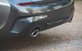 BMW 3 Series 320d 2019 Road Test review - exhaust