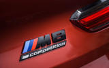 BMW M8 Competition convertible 2020 road test review - rear badge