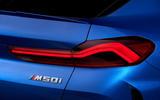 BMW X6 M50i 2019 road test review - rear lights