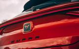 9 Cupra Leon Estate 2021 road test review rear badge