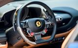 Ferrari F8 Tributo 2019 road test review - steering wheel