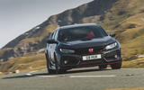 Honda Civic Type R 2019 road test review - cornering front