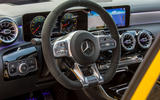 Mercedes-AMG A35 2018 review - steering wheel